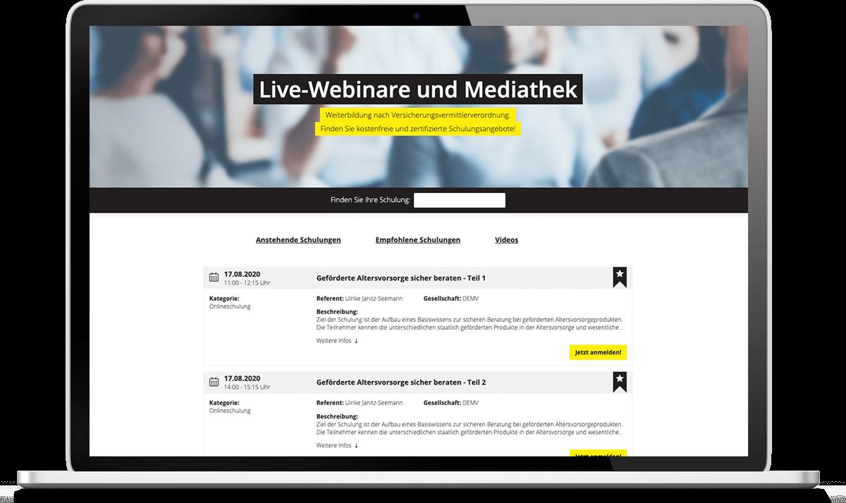 Sie finden beim Deutschen Maklerverbund auf der Website eine Übersicht des Weiterbildungsangebots